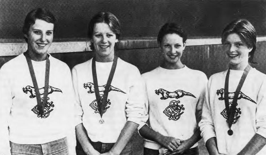 Ladies Freestyle Team 1976  (L-R) D. Eva, K, Llewellyn, S. Phelby, C. Fletcher