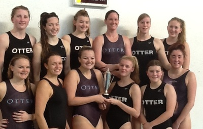 Otter players, back row, left to right: Emily Grant, Hannah Patchett, Ellie Danielson, Lindsey Williams, Rebecca Mulcahy, Isabelle (Izzy) Dean. Front: Marie Mulligan, Catherine Freeman, Jennifer Darnborough, Juliet Edey, Mhairi Nurthen and Holly Campbell.
