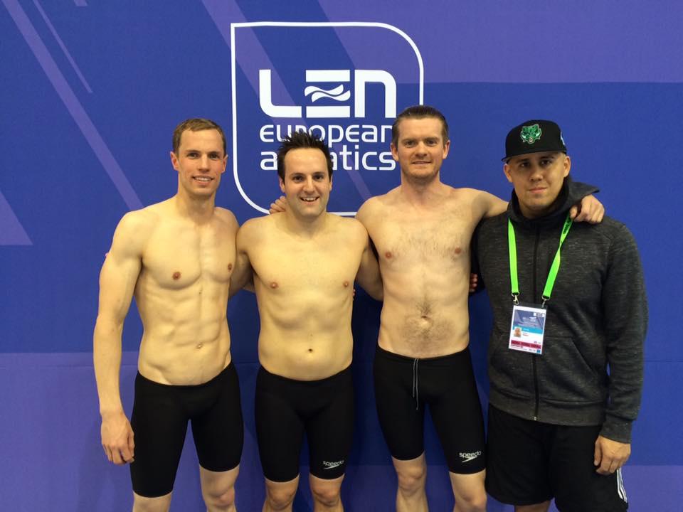 Mens 4x50 Medley Relay: Ollie, Ben, Josh & Wade