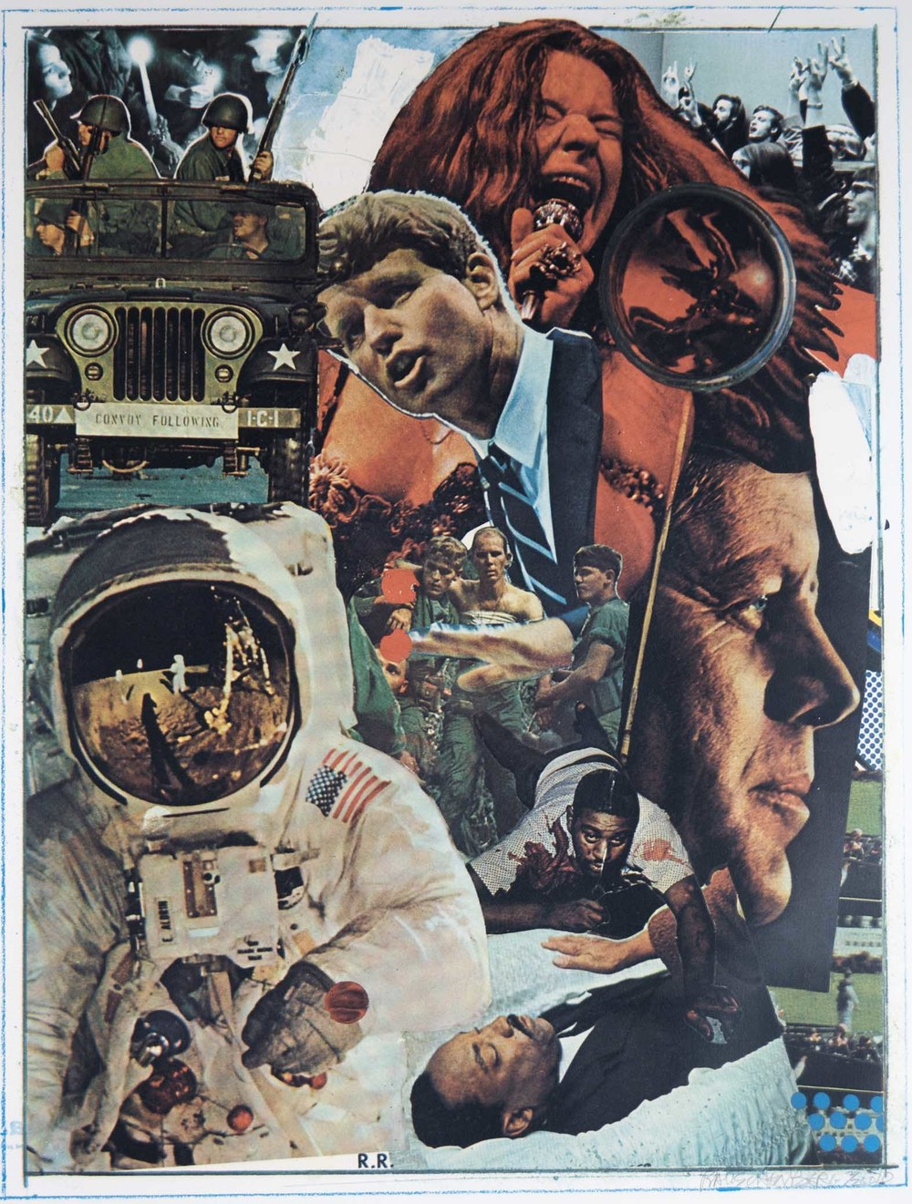 Robert Rauschenberg, Signs, 1970, Screenprint (2/250), Purchased through Douglass Screen Printers Serigraphy Collection Fund, Polk Museum of Art Permanent Collection 2009.8