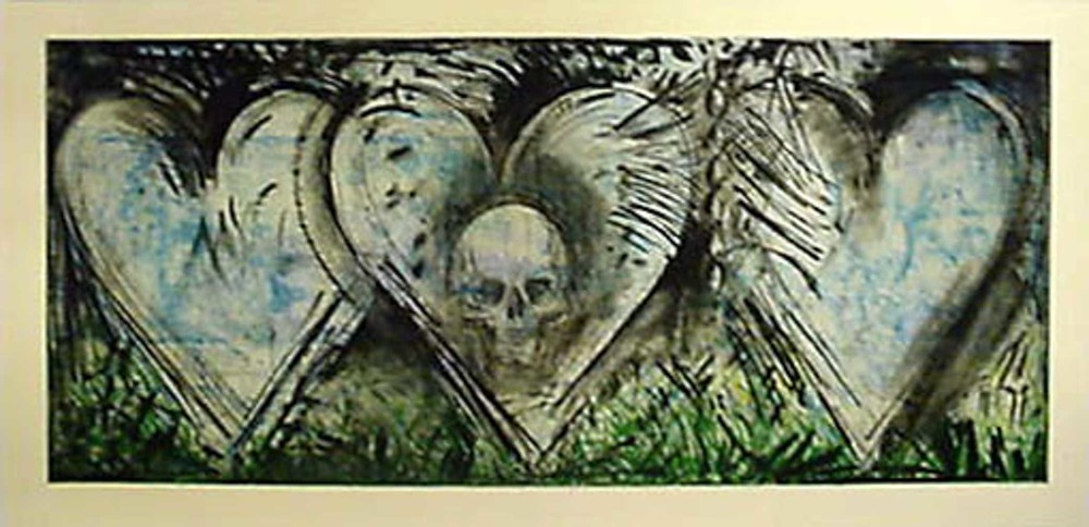 Jim Dine, My Nights in Santa Monica, 1985-1987, Etching, aquatint, and power tool drypoint with burnishing (A.P.), Purchased through the Kent Harrison Memorial Acquisition Fund, Polk Museum of Art Permanent Collection 2002.3.3