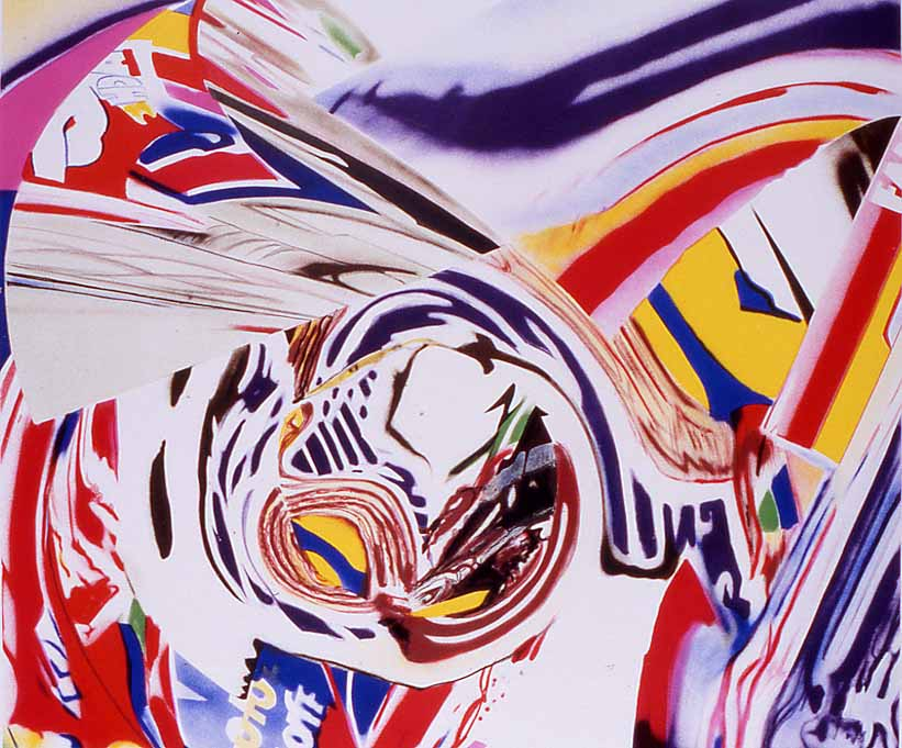 James Rosenquist, After Berlin V, 1998, 10-color lithograph, Graphicstudio Subscription Purchase through the Kent Harrison Memorial Acquisition Fund, Polk Museum of Art Permanent Collection 1999.5