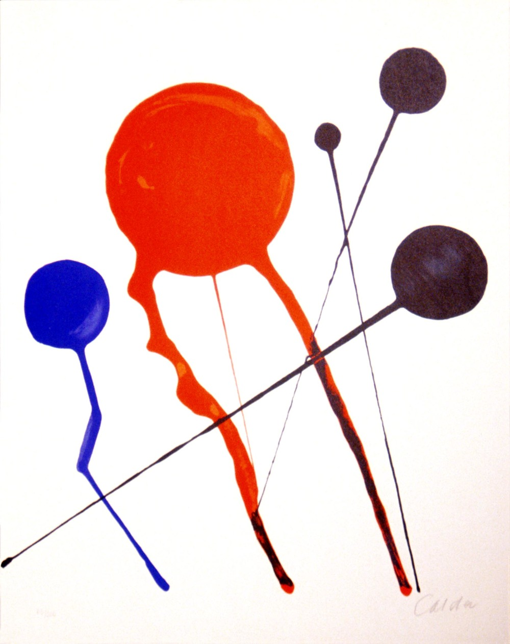 Alexander Calder, Composition, n.d., Lithograph (65/100), Gift of the Estate of Earleen G. Field, Polk Museum of Art Permanent Collection 2001.11.4