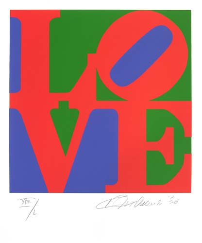 Robert Indiana, Love, 1986, Screenprint, Gift of Mark and Annae Knipe, PMoA Permanent Collection Polk Museum of Art