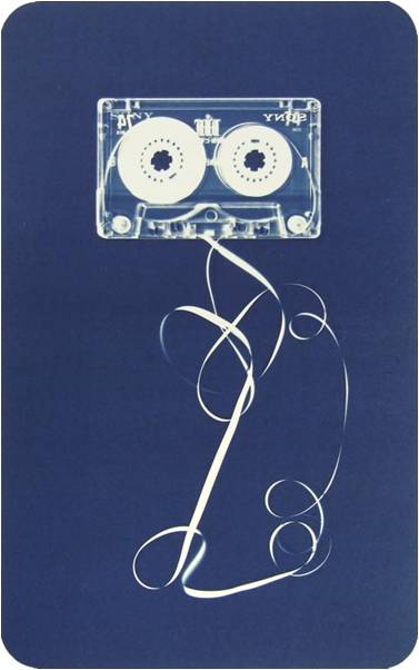Christian Marclay, Automatic Drawing, 2008, Cyanotype (Impression 8/35), Grahpicstudio Subscription Purchase through the Kent Harrison Memorial Acquisition Fund, Polk Museum of Art Permanent Collection 2008.27