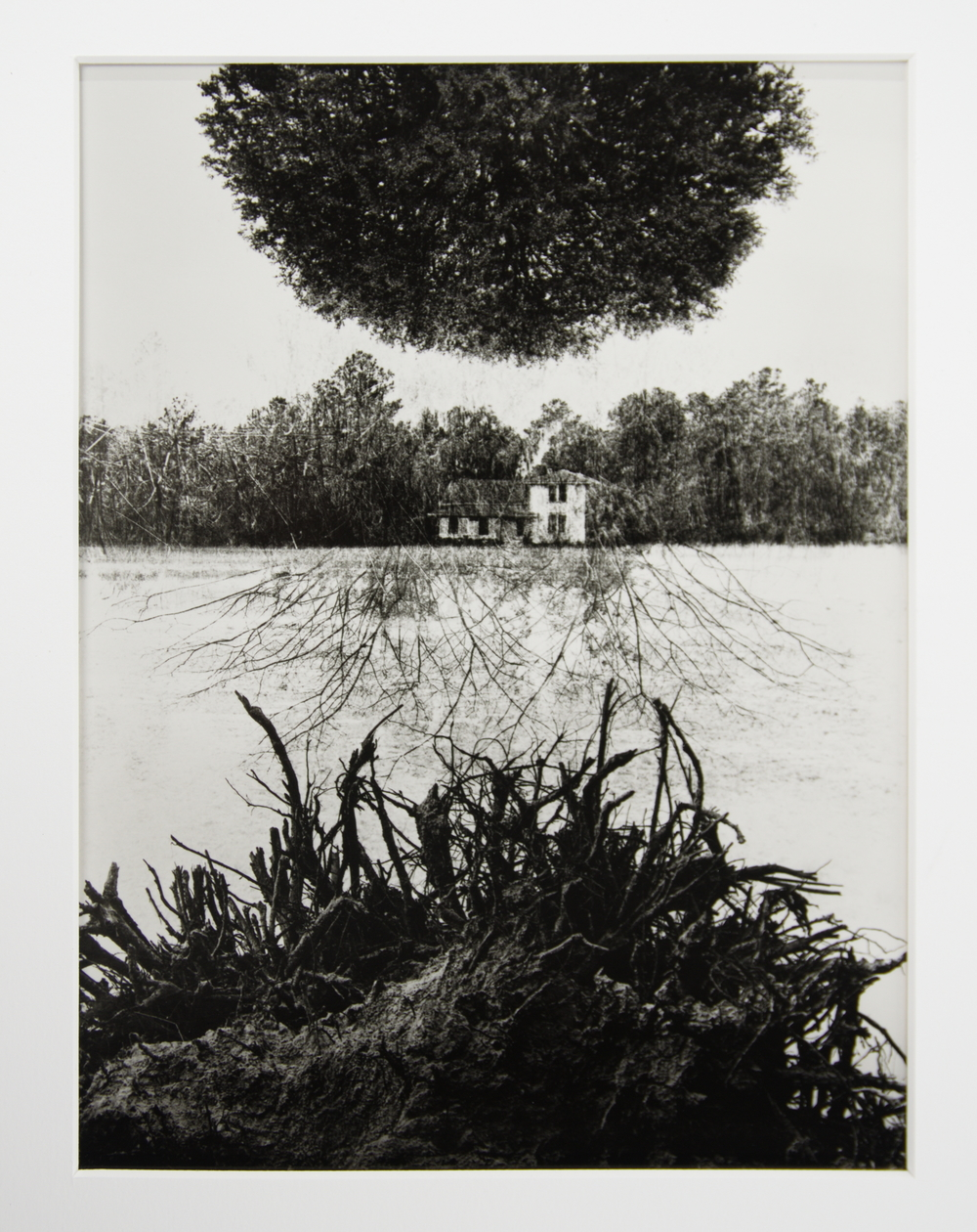 Jerry Uelsmann, Poet's House, 1965, Silver gelatin print (24/100), Gift of the artist, Polk Museum of Art Permanent Collection © Jerry Uelsmann