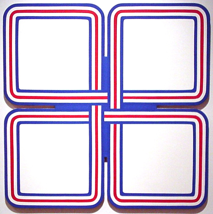 Fonchen Lord, White Cross, Acrylic on shaped canvas, Gift of the artist, Polk Museum of Art Permanent Collection 1978.100