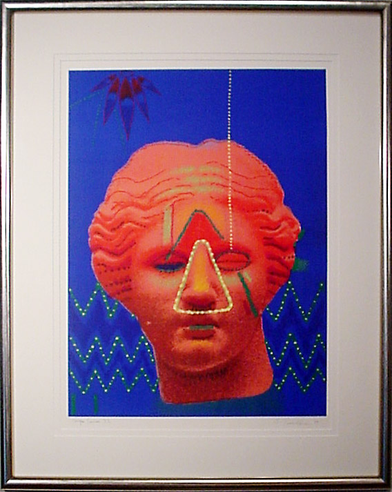 Ed Paschke, Tampa Series #32, 1999, Monotype, Purchase from Studio-f at University of Tampa through the Kent Harrison Memorial Acquisition Fund, Polk Museum of Art Permanent Collection 1999.20.2