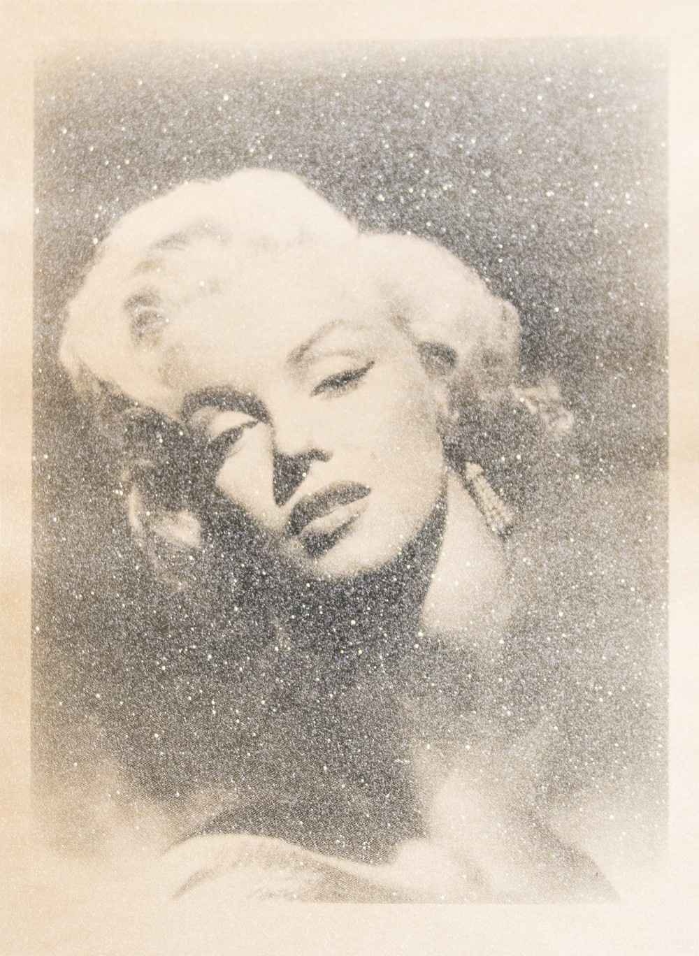 Russell Young,Marilyn Glamour, 2010, Screenprint, acrylic, and diamond dust on linen, Purchased by the Art Resource Trust, Polk Museum of Art Permanent Collection 2013.6.2 © Russell Young.