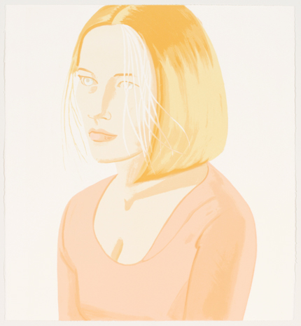 Alex Katz, Mae, 2005, Lithograph, Graphicstudio Subscription Purchase through the Kent Harrison Memorial Acquisition Fund, Polk Museum of Art Permanent Collection 2006.20 © Alex Katz