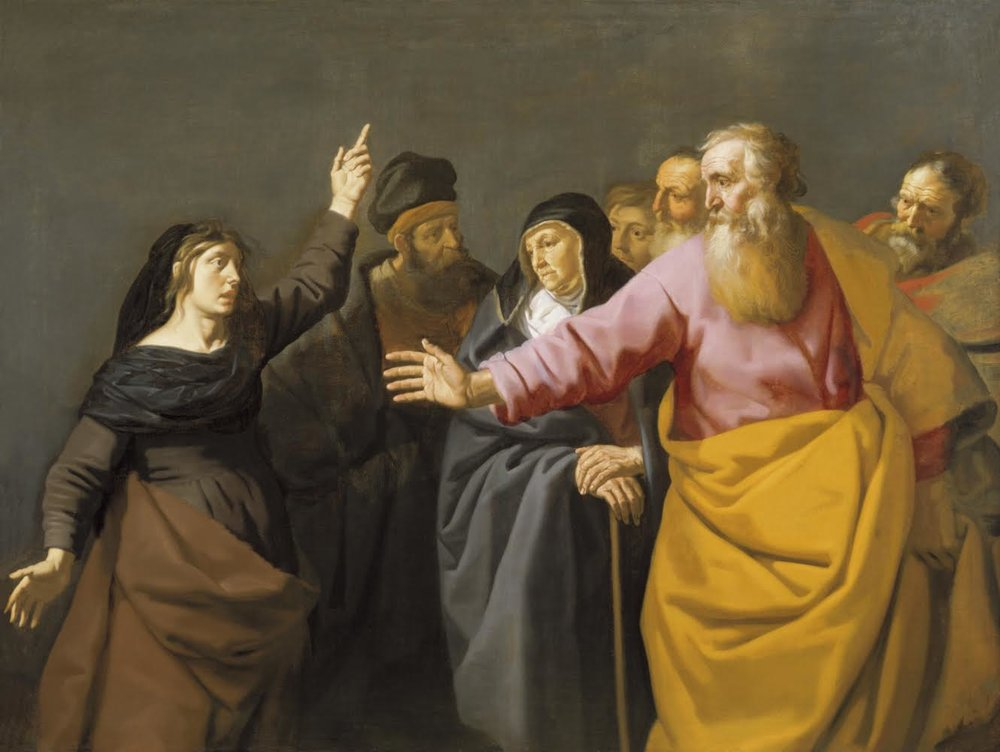 """""""St Paul and the Soothsayer of Philippi,"""" Artist: Lambert Jacobsz, Canvas, 155.5 x 206.7 cm"""