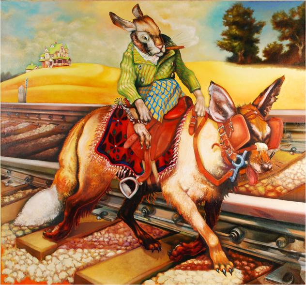 "Bill Rutherfoord,Deception (Spring), 2008-2013, Oil on linen, 70"" x 74"""