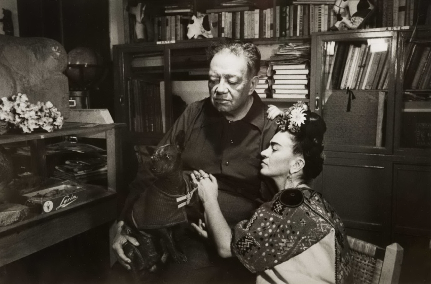 Marcel Sternberger,  Frida Kahlo and Diego Rivera, 1952, Mexico City,  Image date 1952, Print Date 2017, Silver gelatin print, Gift of Robert and Malena Puterbaugh in memory of Anne Tucker, recipient of the 2008 Harrison-Hooks Lifetime Achievement Award, Polk Museum of Art