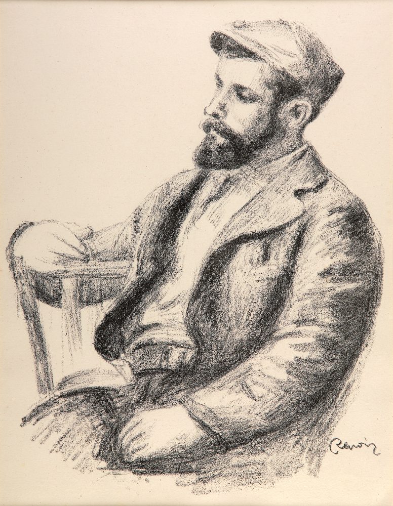 "Pierre Auguste Renoir, ""Louis Valtat,"" Image courtesy of The Art Company"