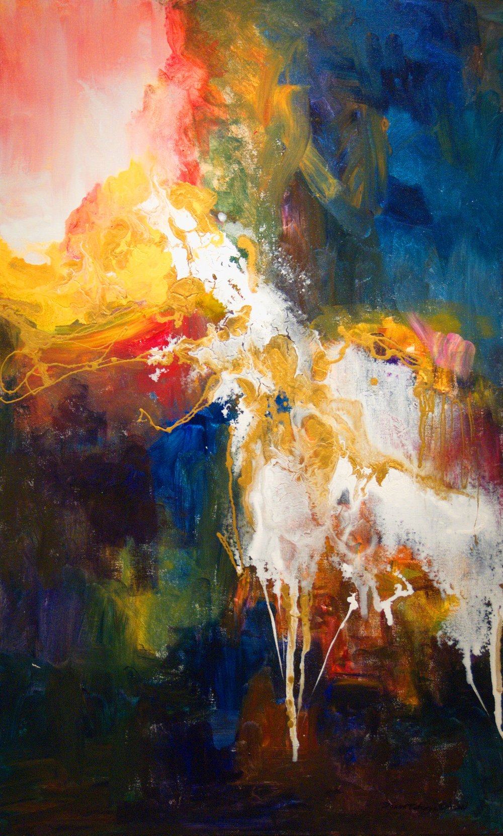 Donna Petcoff Watson,  Untitled , Acrylic on Canvas, 48 x 30 1/8 inches, Courtesy of Donna Petcoff Watson Gallery and Platform Art Forum for Creativity.