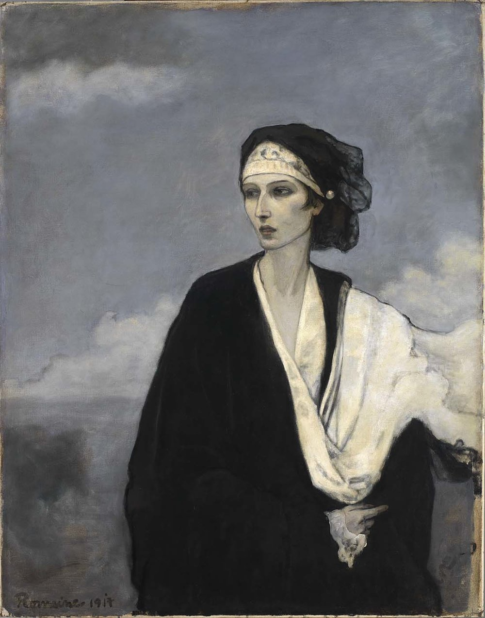 Romaine Brooks,  Ida Rubinstein , 1917, Oil on Canvas, Courtesy of the Smithsonian American Art Museum.