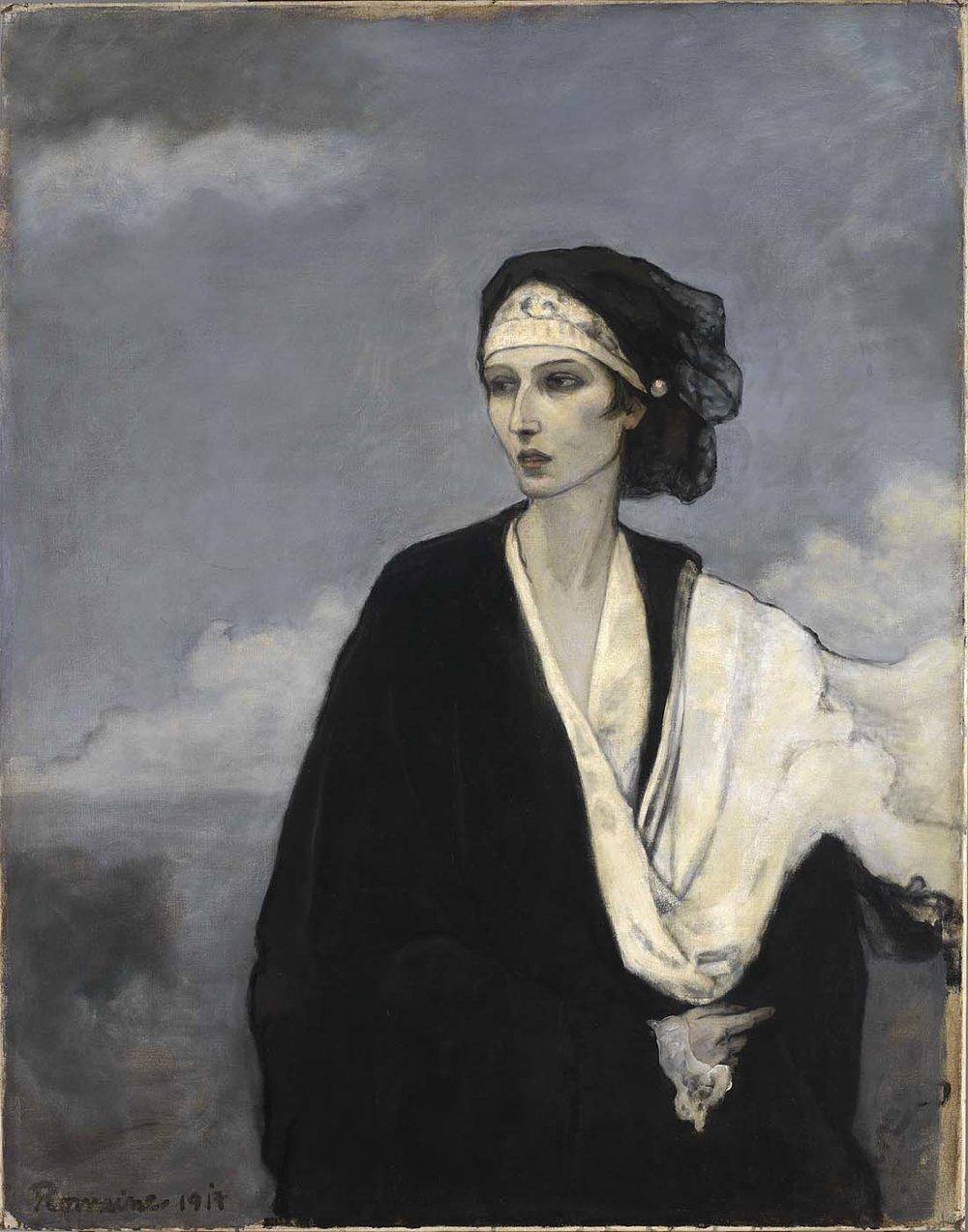 Romaine Brooks,  Ida Rubinstein , 1917, Oil on Canvas, Courtesy of the Smithsonian American Art Museum.