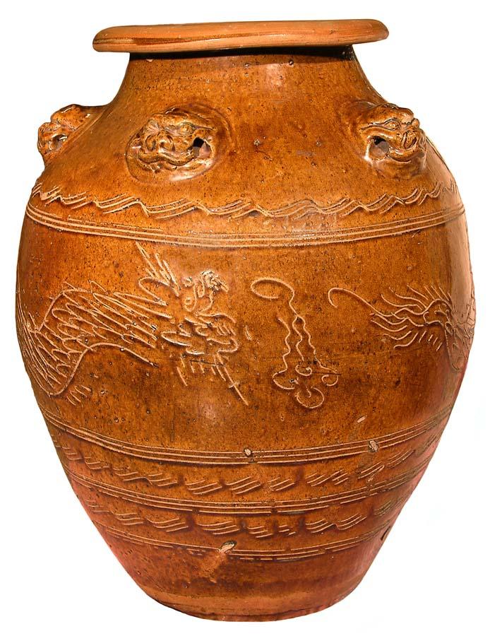 Unknown Chinese Artist,Martaban Jar, China,Ming Dynasty 1368-1644 CE, Ceramic; stoneware, Gift of the Estate of Gloria Lindahl-Hignite.