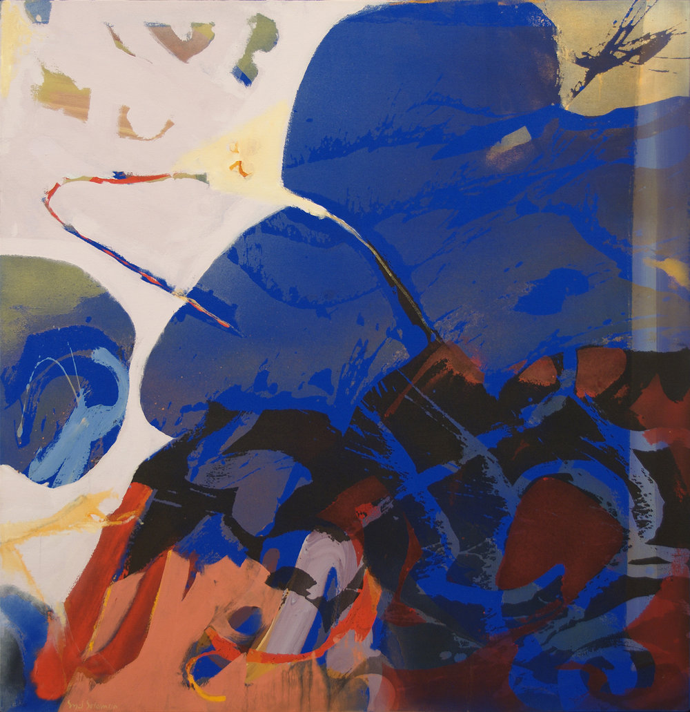 Syd Solomon,Wind Range (or Windswept),1980-82, Acrylic and Oil on Canvas, Gift of Leslie and John Osterweil.