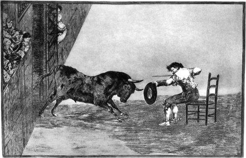 Francisco Goya Termeridad De Martincho En La Plaza Zaragoza 1815