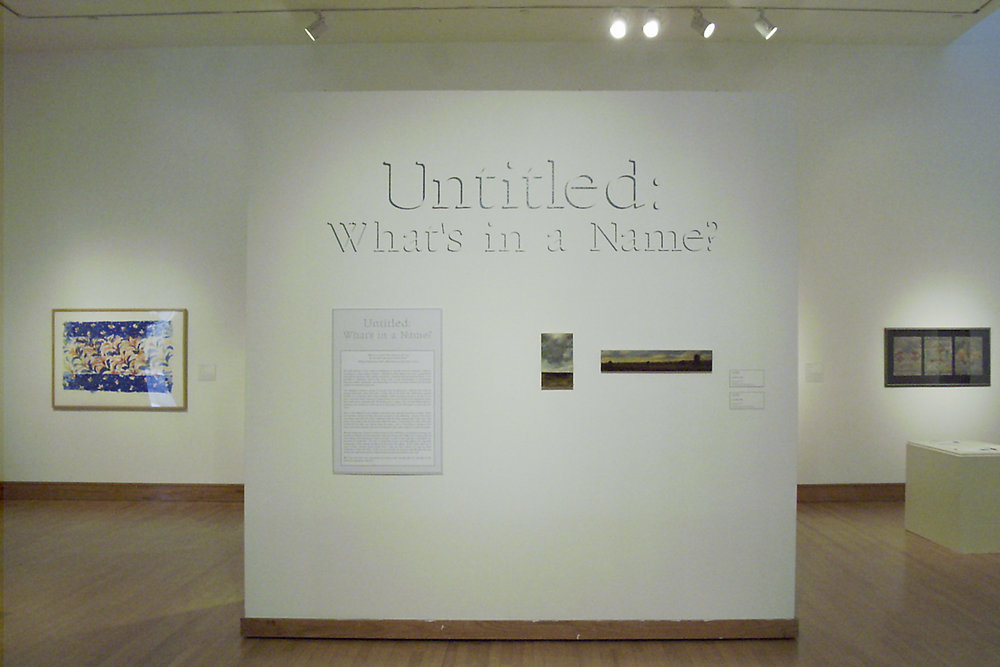 Untitled: What's in a Name?,  2002.