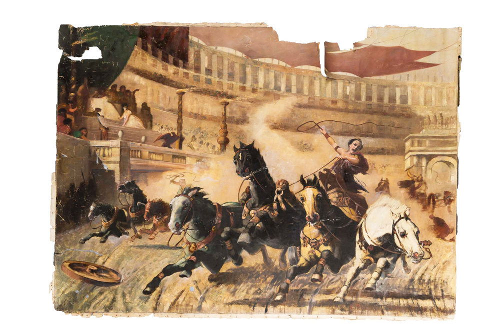 ATTRIBUTED TO ALEXANDER VON WAGNER, THE CHARIOT RACE .