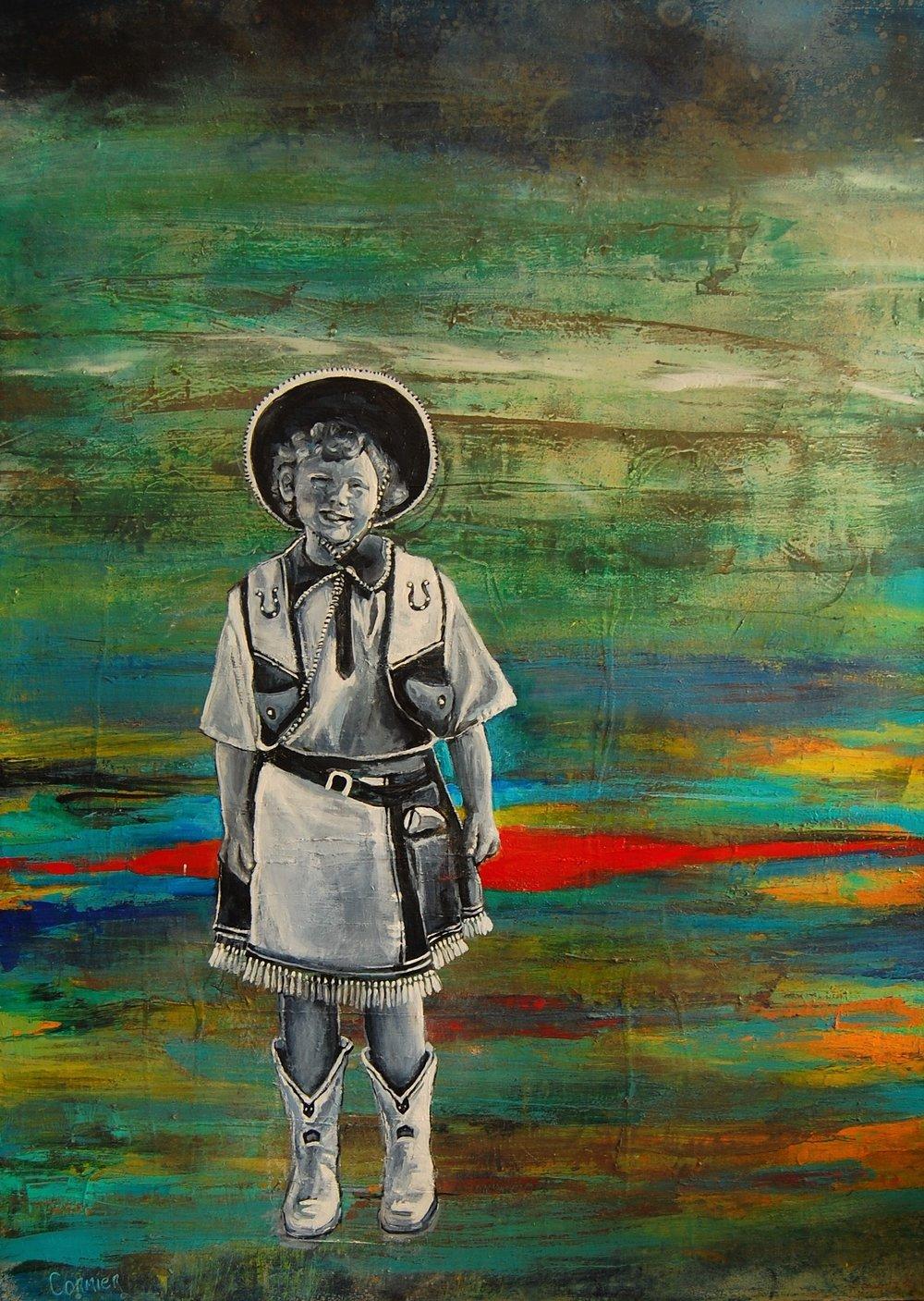 "Jean Cormier , 'White Boots,'  2018, 40"" x 30"""