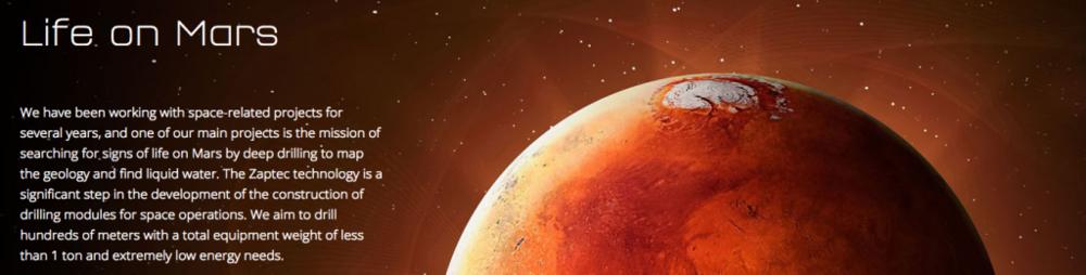 Zaptec har også forskningsprosjekter knyttet til liv på Mars