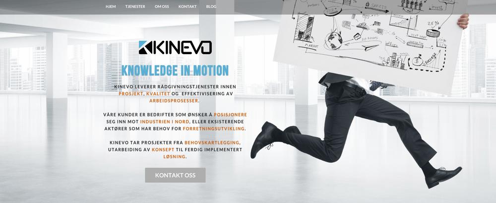 Kinevo er spesialister på prosjektledelse og forretningsutvikling. De brenner for å hjelpe nye og gamle leverandører å lykkes med industri i nord. Du finner nettsidene deres på  www.kinevo.no .