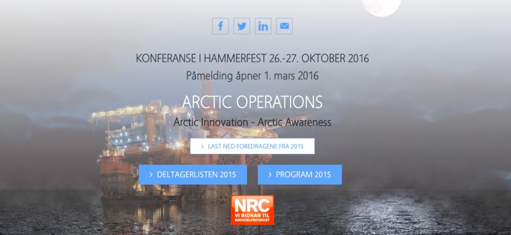 Kinevo AS i Hammerfest er blant annet involvert i konferansen Artic Operations, en viktig møteplass for industrien i nord. Les mer på www.arcticop.com