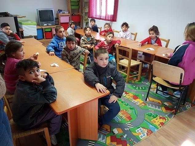 Barna på dagsenteret i Babadag