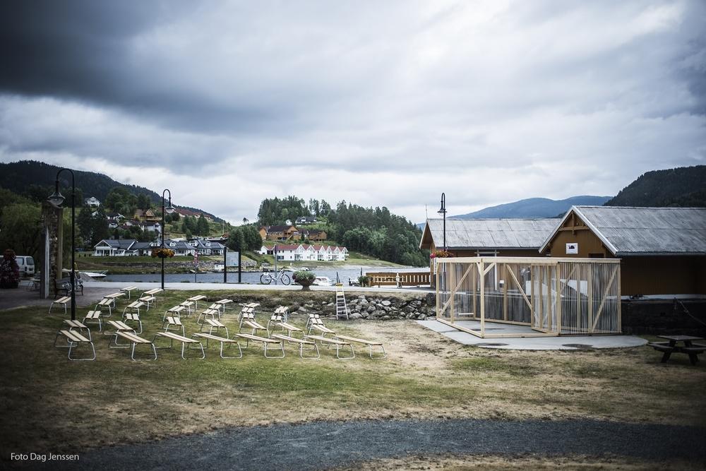Scene i Bryggeparken. Foto: Dag Jensen