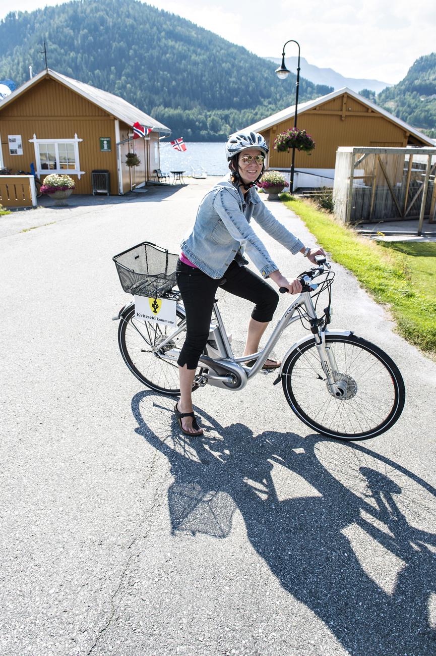 Prosjektet har kjøpt nye El-syklar! Foto: Dag Jensen
