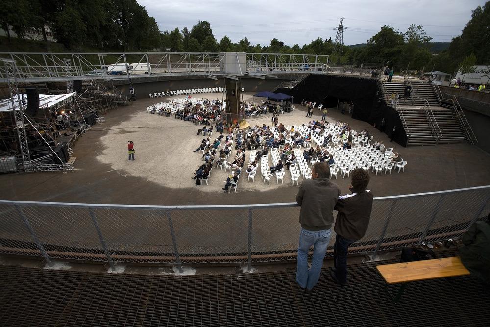 Konsert i sedimentbassenget (foto Dag Jenssen)