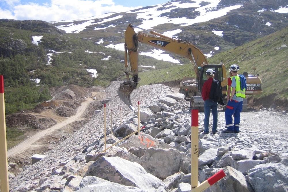 Dam Bitdalen - frå anleggsarbeidet