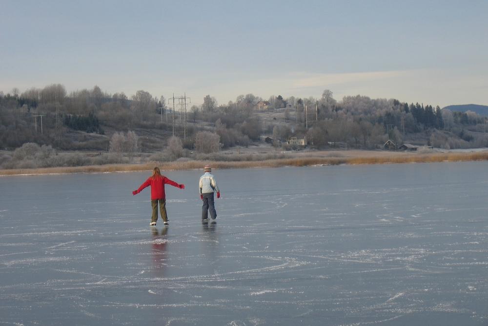Vinterfriluftsliv på Børsesjø er populært