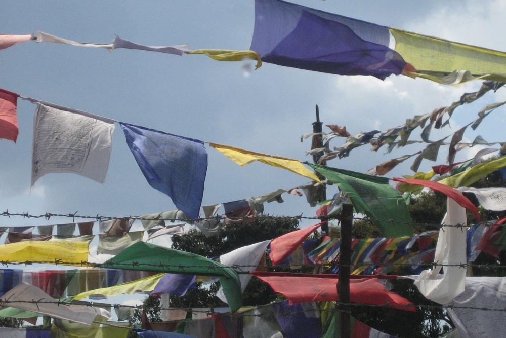 Bønneflagga er et symbol som gir uteområdene særpreg og forteller om hvor i verden vi er