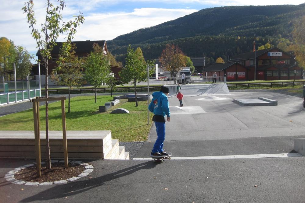 Trappeamfi og skatepark