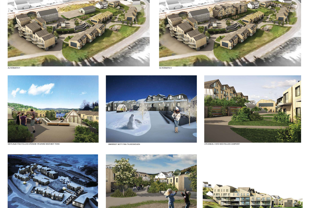 Konkurransebidrag fra Børve og Borchenius arkitekter.