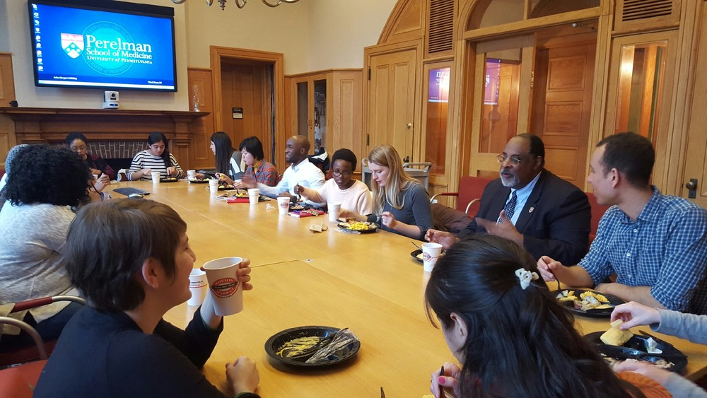 Students from multiple schools at Penn -- medicine, sociology, and more -- had a chance to interact with Dr. Graves during the Seminar Series Luncheon.