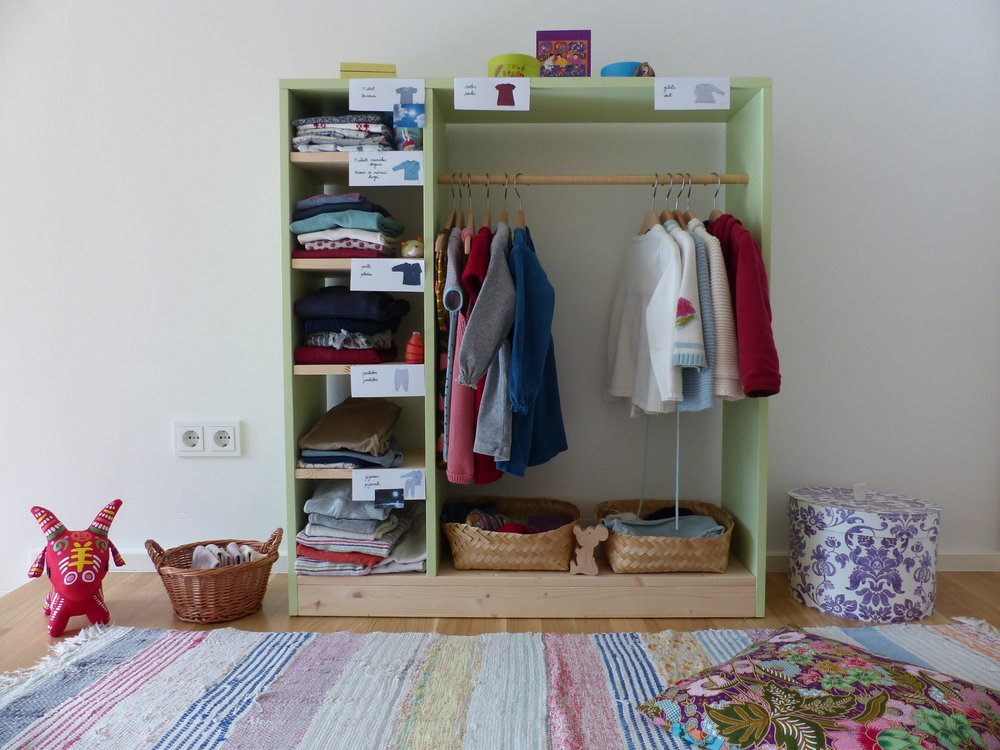This Wardrobe Is Child Size. My Little One Can Access Everything By  Herself. She Doesnu0027t Need To Open The Door Of A Big Closet Or Pull A Heavy  Drawer.