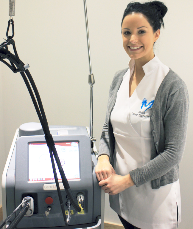 Sheila, our dedicated Laser therapist. Book a free consultation with Sheila to discuss treatments.