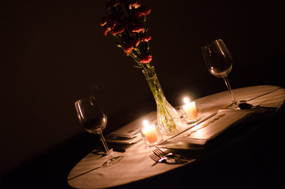 ANNIVERSARies - Our standard anniversary package includes an intimate dinner of choice for two, complete with dessert,table linens, floral arrangements, candles, dinnerware to include plates, silverware, cloth napkins and glasses; signature non-alcoholic beverage. For pricing please click below.