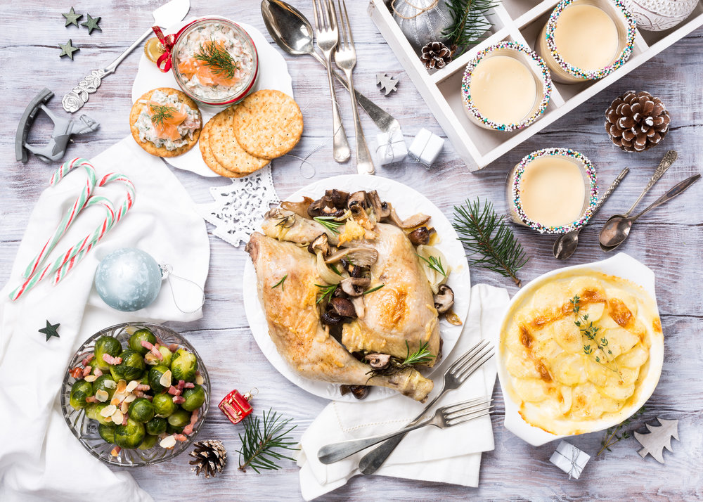 HOLIDAY PACKAGE - Our holiday package includes your choice of meal, dessert and signature non-alcoholic beverage, with table linens, tableware, and festive holiday decor.