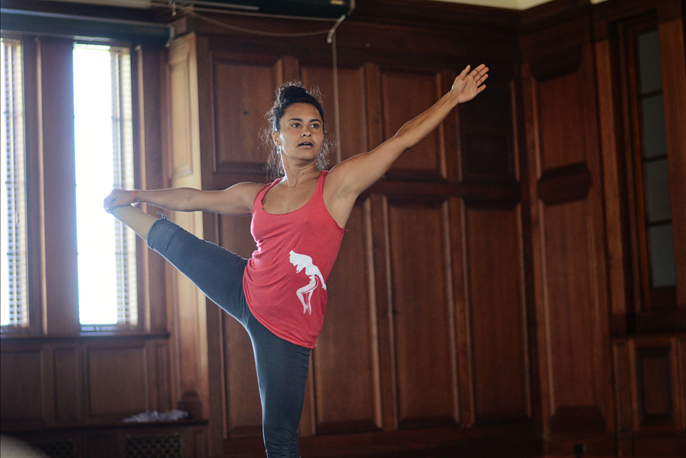 Dancer Stephanie Bastos rehearsing at New College of Florida at the Charles Ringling Mansion/ Music Hall