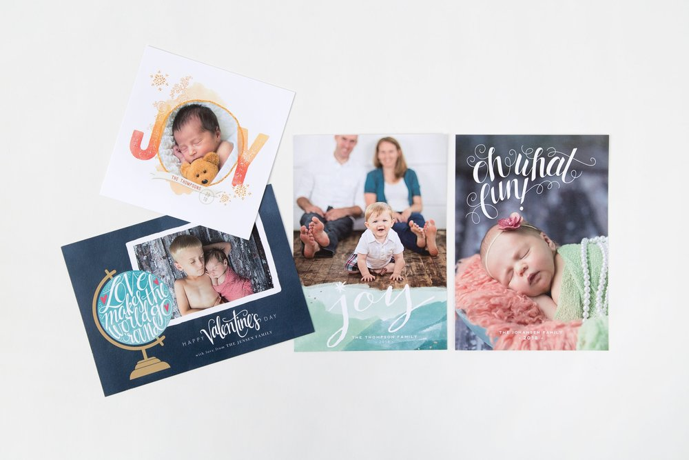 Flat Cards - Flat Cards are perfect for holidays, announcements and more.Sizes include 3x3, 4x5, 4.25x5.5, 4x6, 5x5, 5x7, 4x8, and 5.5x8.5Classic Felt, Premium Bamboo, Premium Cotton, 100% Recycled, Smooth, Linen, and Pearl press paper availableStarting at $3 each