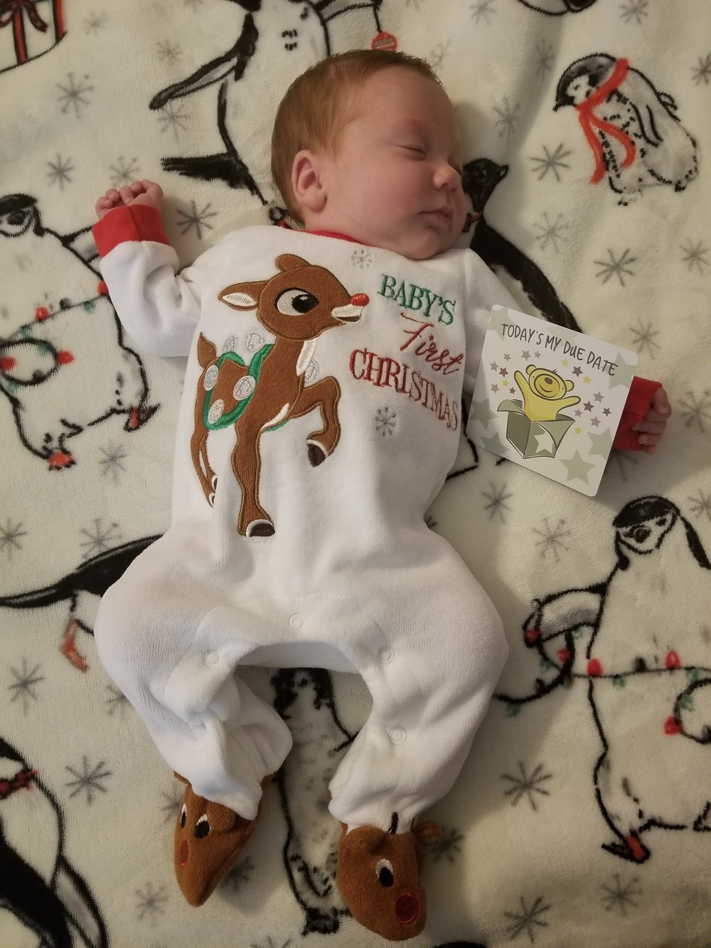 Cassidy's due date was Christmas day!