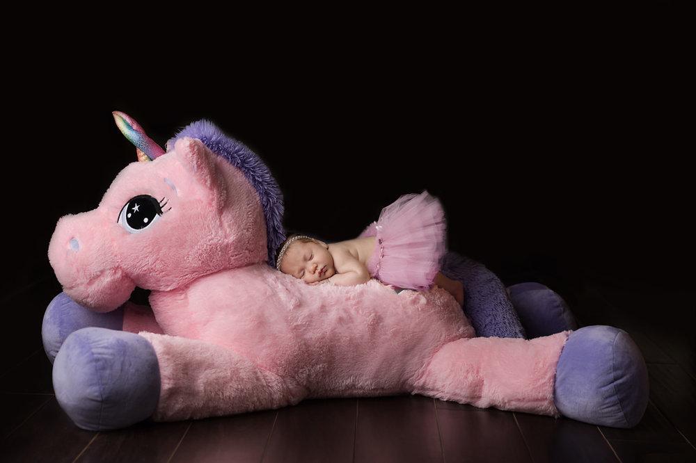 Yes, warrior princesses ride giant unicorns!