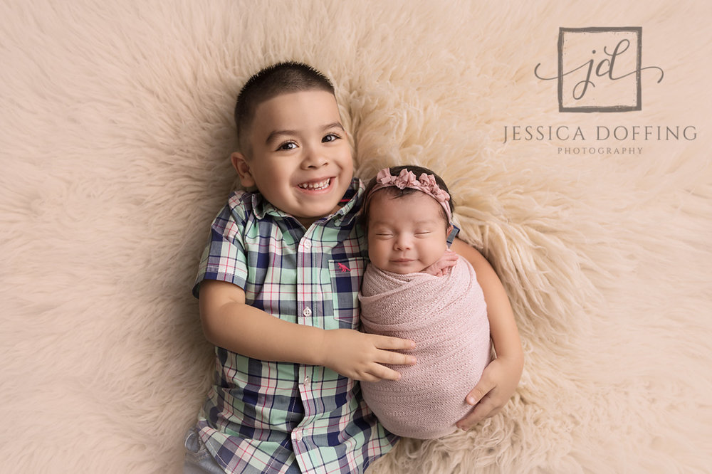 big brother with baby sister