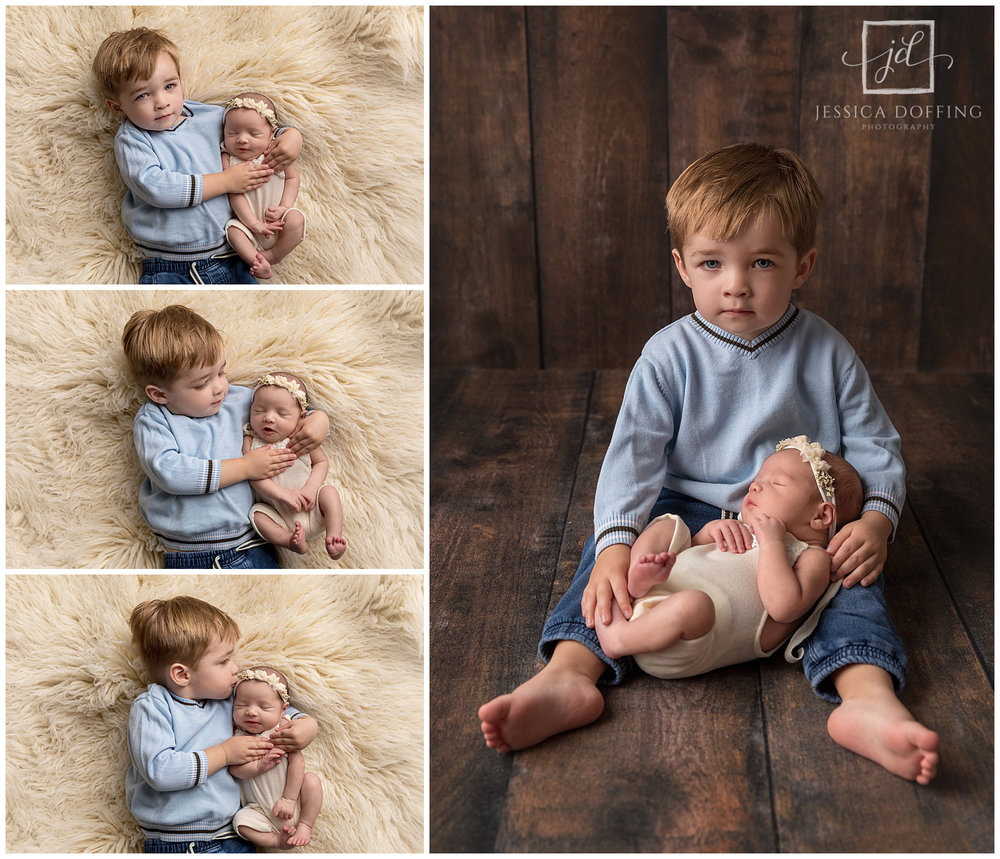 Sibling photos with toddlers is challenging but so worth it!